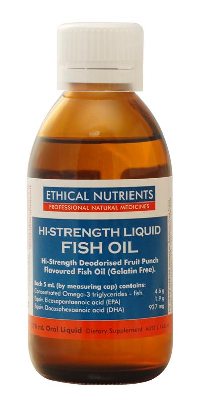 Ethical Nutrients High Strength Liquid Fish Oil 170ml