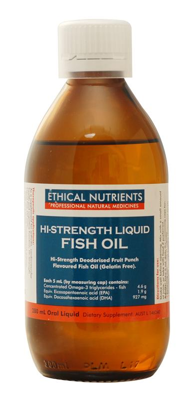 Ethical Nutrients High Strength Liquid Fish Oil 280ml