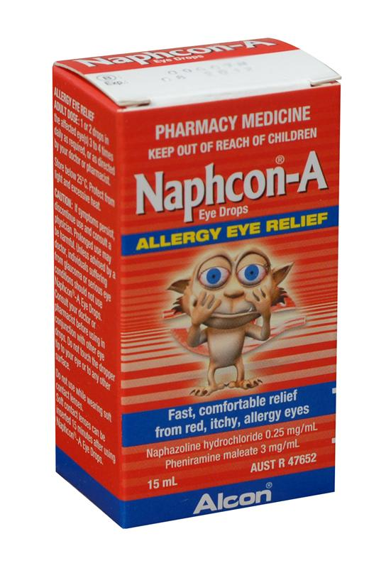Naphcon-A Allergy Eye Drops 15ml - Limit of 1 Packet per Customer