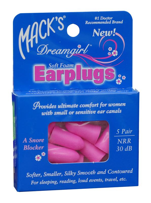 Macks Dreamgirl Soft Foam Earplugs 5 Pair