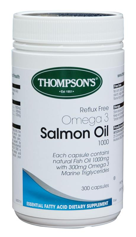 Thompsons Salmon Oil 1000mg Reflux Free Capsules 300