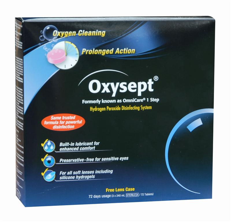 Oxysept Hydrogen Peroxide Disinfecting System 72 Days usage (3 x 240ml / 72 tablets)