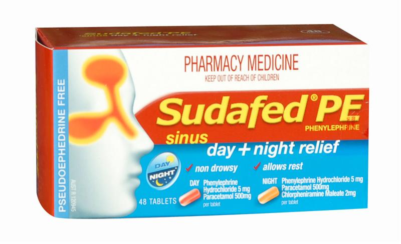 Sudafed PE Sinus Day + Night Relief Tablets 48