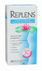 Replens Long-Lasting Feminine Moisturiser Single Pre-filled Applicators 10 (30 days supply)