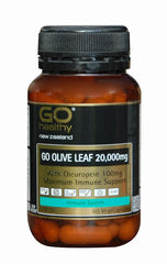 GO Healthy Olive Leaf 20,000mg VegeCapsules 60
