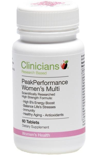 Clinicians Peak Performance Womens Multi Tablets 60