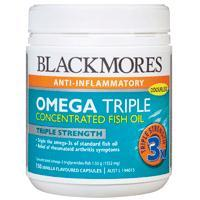 Blackmores Omega Triple Concentrated Fish Oil Capsules 150