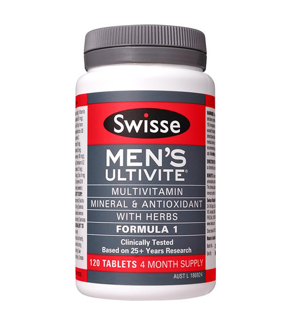 Swisse Mens Ultivite Formula 1 Tablets 120