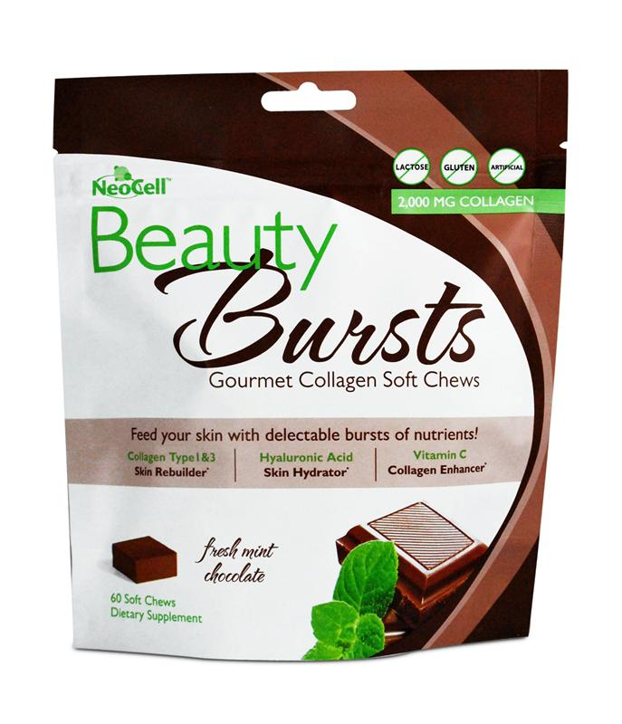 NeoCell Beauty Bursts Collagen Soft Chews 60 - Fresh Mint Chocolate