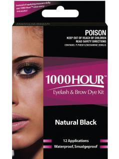 1000 Hour Eyelash & Brow Dye Kit Natural Black