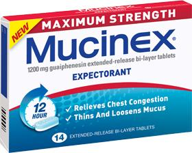 Mucinex Maximum Strength Expectorant Tablets 14