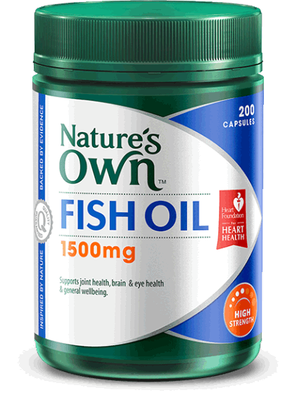 Nature's Own High Strength Fish Oil 1500mg Capsules