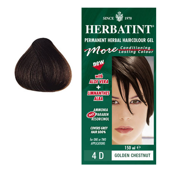 Herbatint Permanent Hair Colour Golden Chestnut 4D