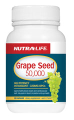 Nutra-Life Grape Seed 50,000 Capsules 120