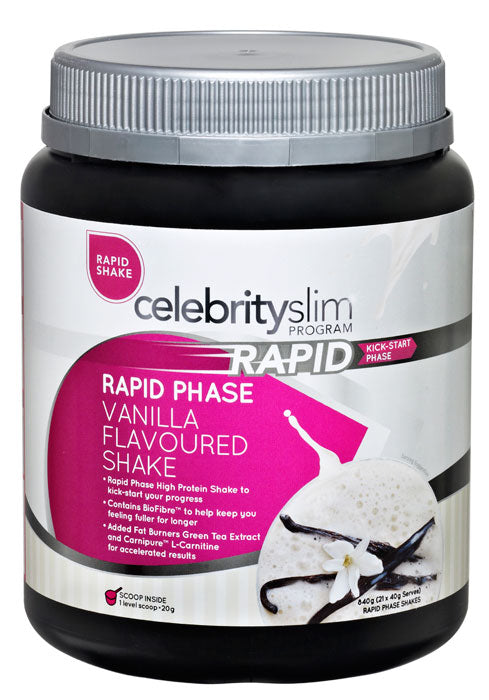 Celebrity Slim Rapid Vanilla Flavoured Shake 840g