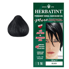 Herbatint Permanent Hair Colour Black 1N
