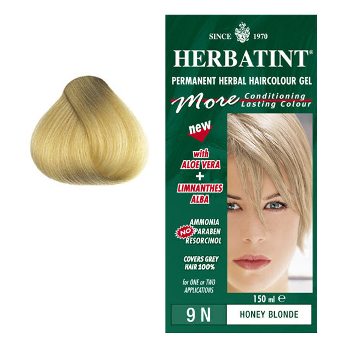 Herbatint Permanent Hair Colour Honey Blonde 9N
