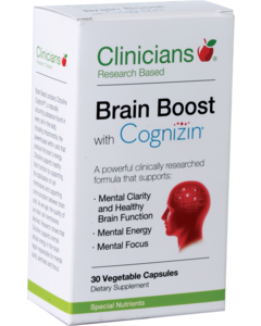 Clinicians Brain Boost with Cognizin Vegetable Capsules 30