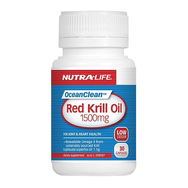 Nutra-Life OceanClean Red Krill Oil 1500mg Capsules 30