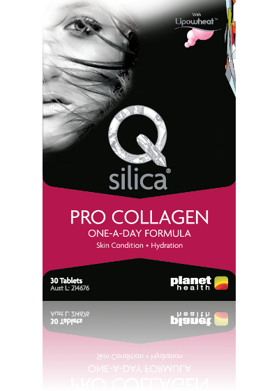 Qsilica Pro Collagen One-A-Day Formula with Lipowheat Phytoceramide Tablets 30 expiry date:September 2018