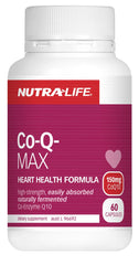Nutra-Life Co-Q Max Coenzyme Q10 150mg Heart Formula Capsules 60