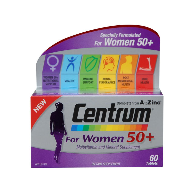 Centrum for Women 50+ Multivitamin and Mineral Supplement Tablets 60