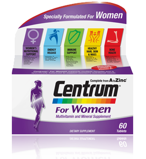 Centrum for Women Multivitamin and Mineral Supplement Tablets 60