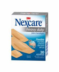 Nexcare Heavy Duty Fabric Bandages Assorted 30
