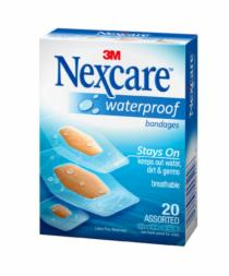 Nexcare Waterproof Clear Bandages Assorted 20
