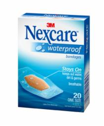 Nexcare Waterproof Clear Bandages 20 (26mm x 57mm)