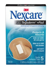 Nexcare Tegaderm + Pad Sterile Waterproof Transparent Dressings 5 (60.3mm x 101mm)