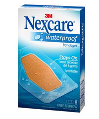 Nexcare Waterproof Clear Bandages for Knee & Elbow (60mm x 88mm) 8