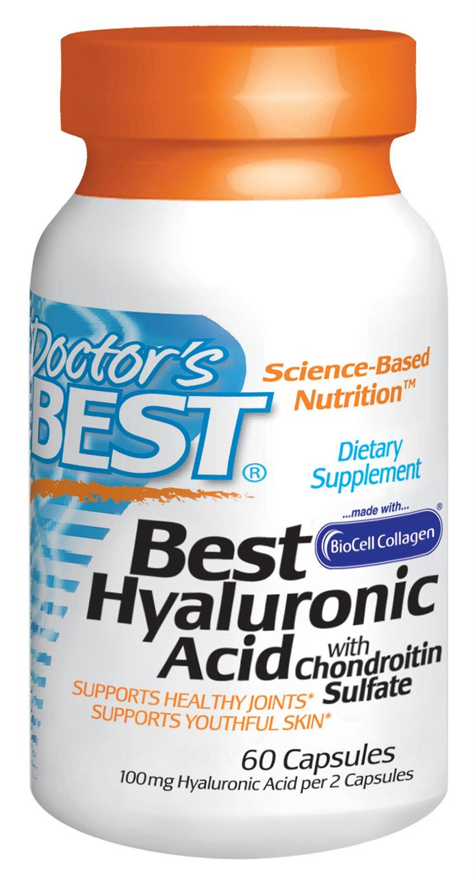 Doctor's Best Hyaluronic Acid with Chondroitin Sulfate Capsules 60