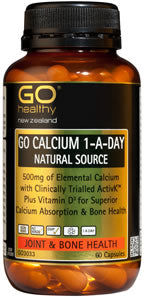 Go Healthy Calcium 1-A-Day Natural Source Capsules 60