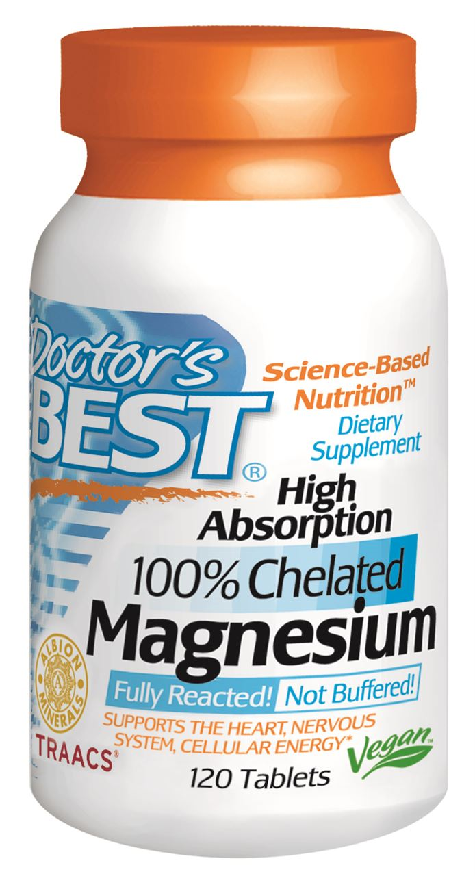 Doctor's Best High Absorption Magnesium Tablets 120
