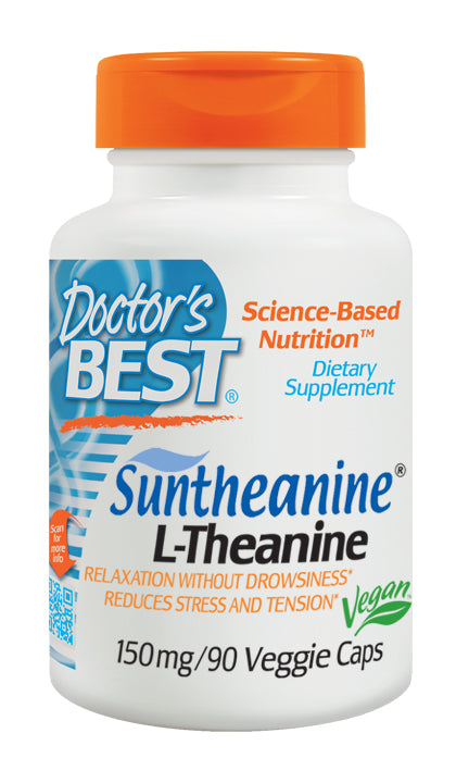 Doctor's Best Suntheanine L-Theanine 150mg Capsules 90