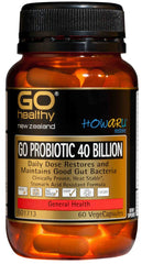 Go Healthy Probiotic 40 Billion VegeCapsules 60