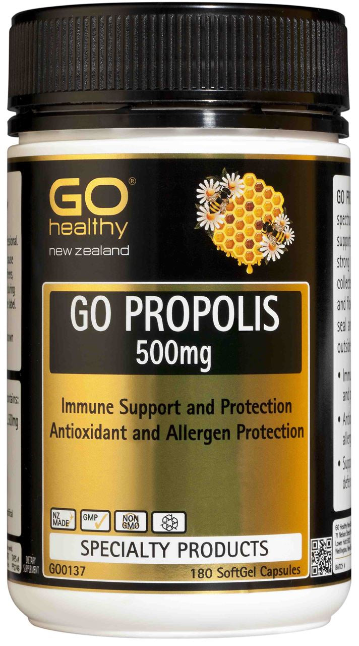 Go Healthy Propolis 500mg Capsules 180
