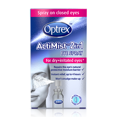 Optrex ActiMist 2in1 Eye Spray for Dry & Irritated Eyes 10ml