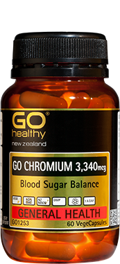 Go Healthy Chromium 3,340mcg Blood Sugar Balance VegeCapsules 120