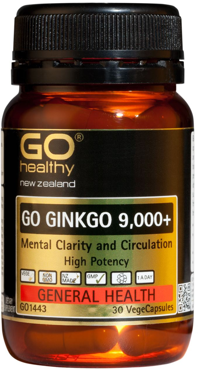 Go Healthy Ginkgo 9,000+ Capsules 30