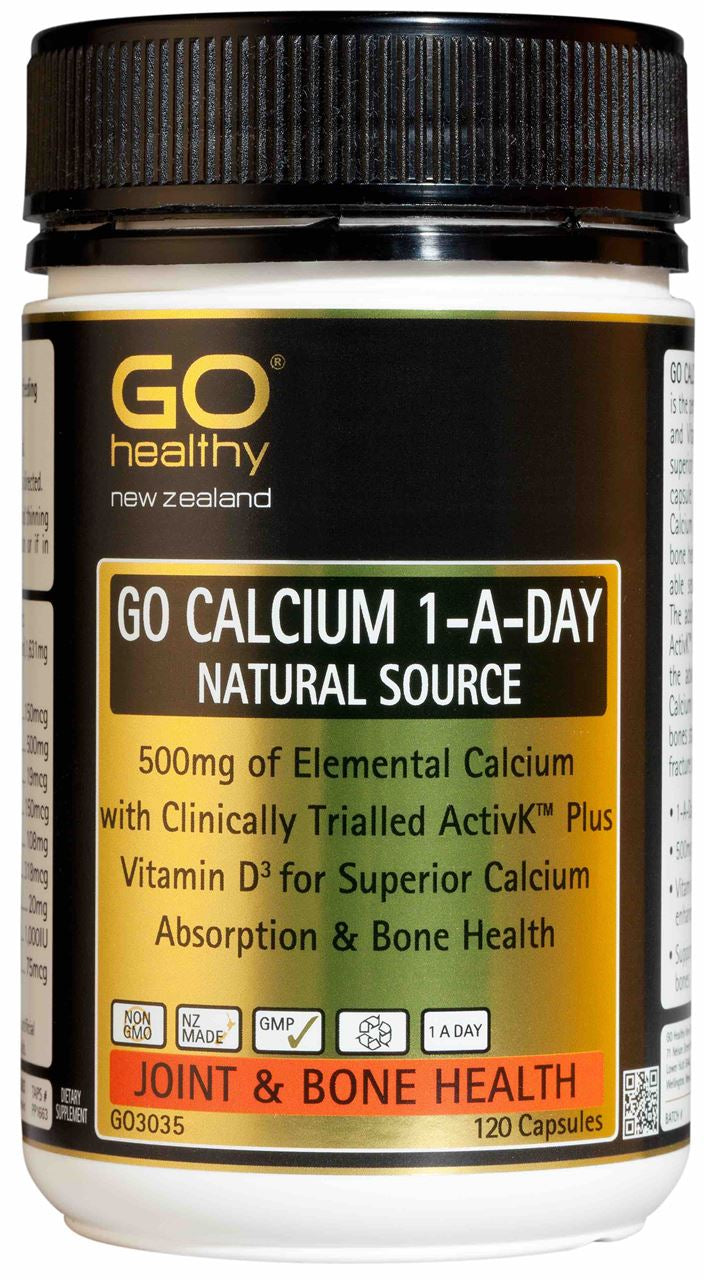 Go Healthy Calcium 1-A-Day Natural Source Capsules 120