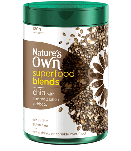Nature's Own Superfood Blends Chia with Fibre and Probiotics 120g (24 Serves)