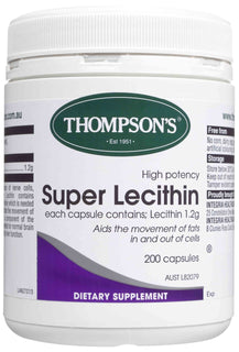 Thompsons Super Lecithin High Potency Capsules 200