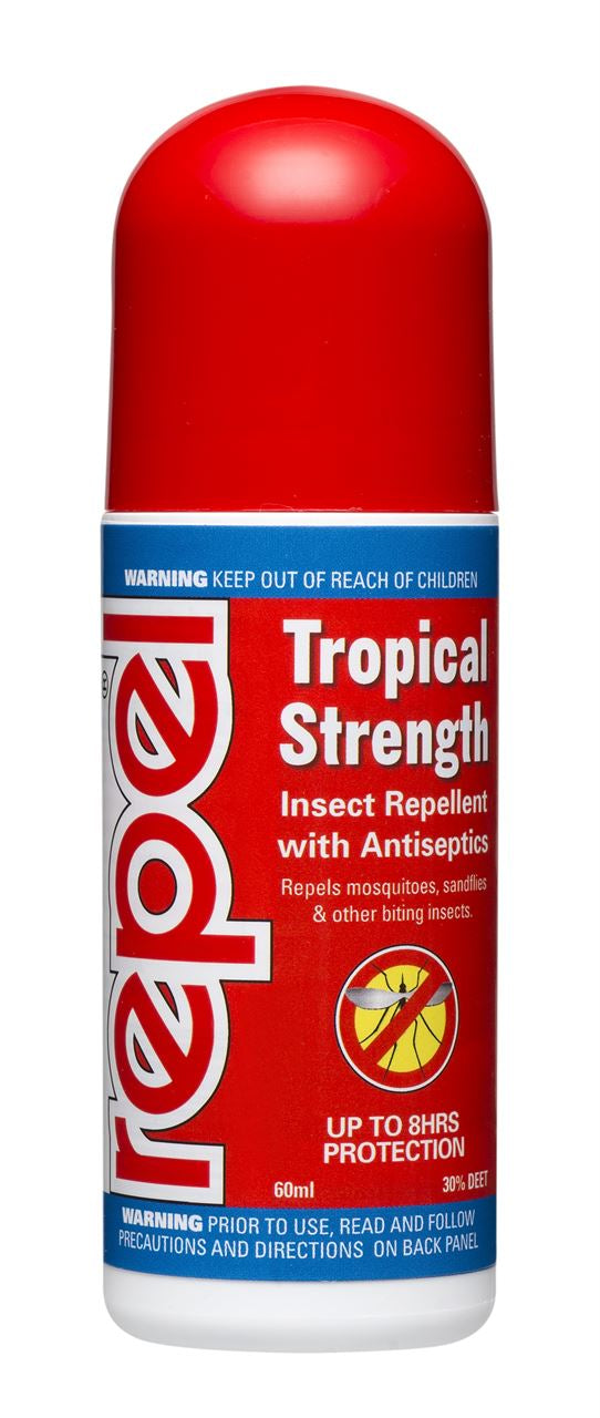 Repel Tropical Strength Insect Repellent Roll On 60ml