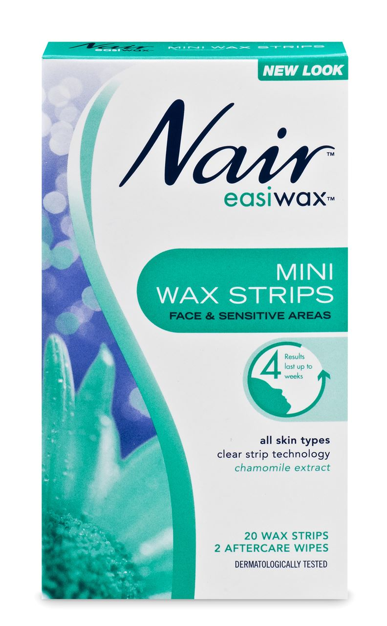 Nair Easiwax Mini Wax Strips for Face and Sensitive Areas 20