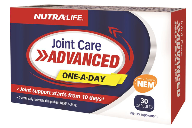 Nutra-Life Joint Care Advanced One-A-Day featuring NEM 500mg Capsules 30