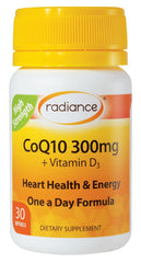 Radiance CoQ10 300mg + Vitamin D3 Capsules 30