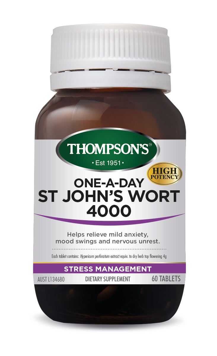 Thompsons St John's Wort 4000 One-A-Day Tablets 60