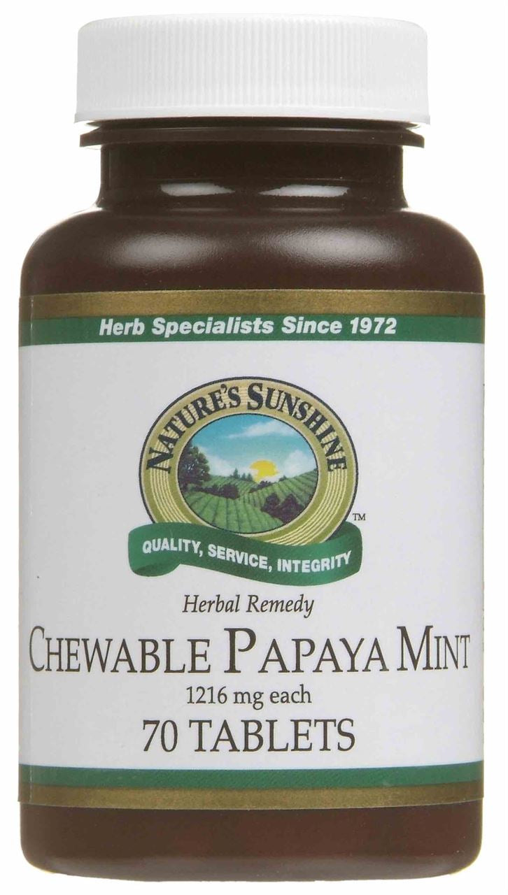 Nature's Sunshine Papaya Mint Chewable Tablets 70
